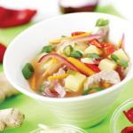 Taze zencefilli zümrüt çorbası